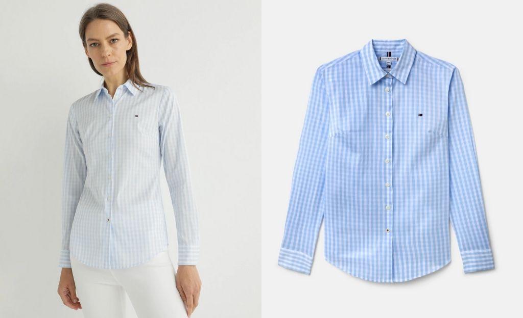 Camisa de mujer 100% algodón de manga corta
