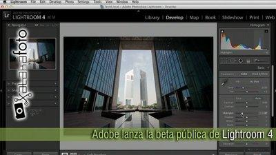 Adobe lanza la beta pública de Lightroom 4