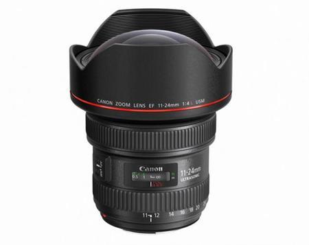 Canon EF 11-24 mm f/4L USM, todos los detalles del objetivo con zoom rectilíneo más angular del mercado