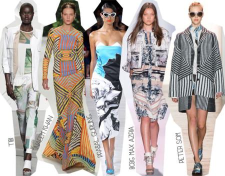 Semana de la Moda de Nueva York Primavera Verano 2014 Tendencias estampados desestructurados