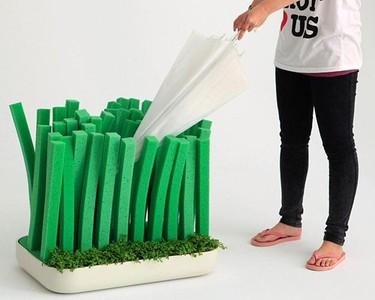 Paragüero jardinera para secar los paraguas