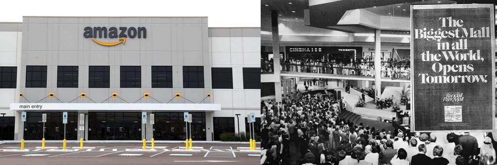 De centro comercial venido a menos a mega-almacén de Amazon™ en solo un año: ascenso, caída y resurgimiento del Randall Park Mall