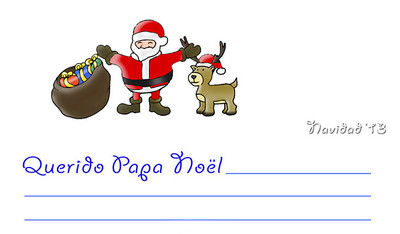 Carta para Papá Noel exclusiva de Bebés y más (Navidad'13)