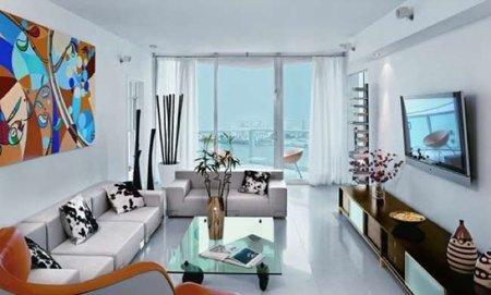 Puertas abiertas: un apartamento colorista en Miami