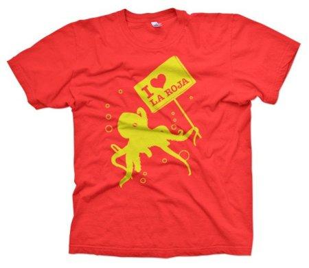 El pulpo Paul ya tiene camiseta de La Roja en Shirtcity