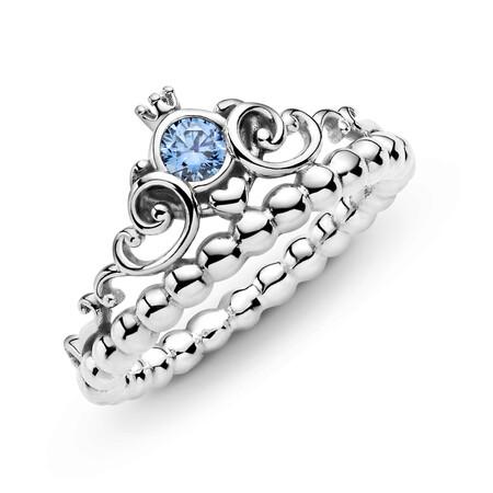 Pandora Anillo Corona Azul Cenicienta De Disney En Plata De Primera Ley 59eur 2