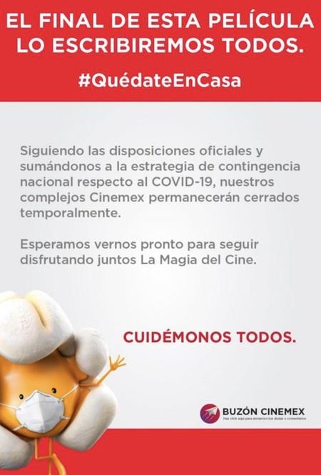 Cinemex Coronavirus Mexico