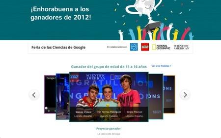 Los ganadores del concurso 2012 de Ciencias de Google en la categoría 15-16 años son tres españoles de La Rioja