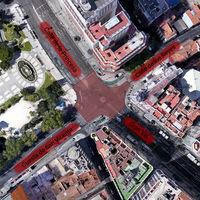 Comienza la transformación de la Plaza de España de Madrid: menos coches y un paso de peatones a lo Shibuya