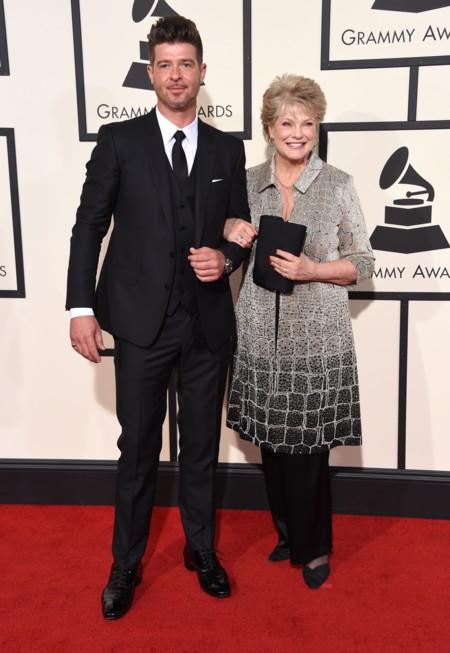 Robin Thicke y su madre