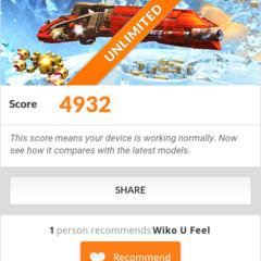 Foto 13 de 19 de la galería benchmarks-wiko-u-feel en Xataka Android
