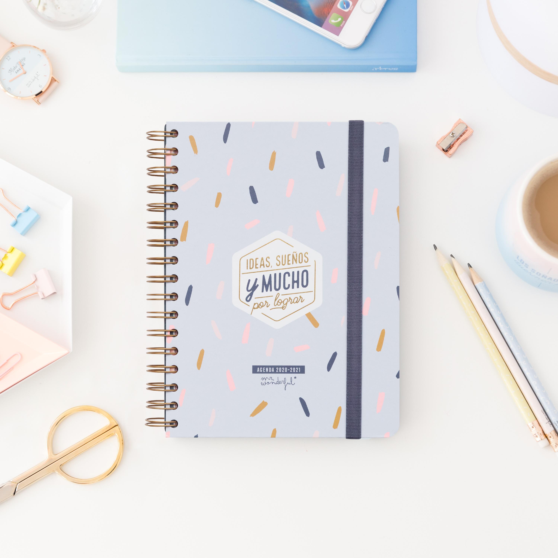 Agenda Clásica 2020-2021 Día por Página Mr. Wonderful: Ideas, sueños y mucho por lograr