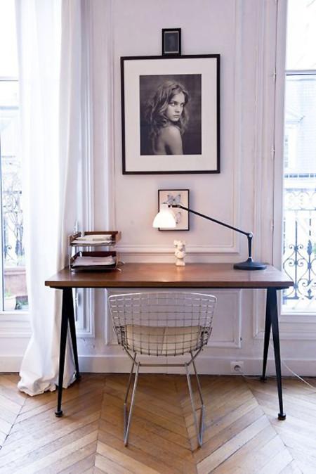 21 formas de integrar una zona de trabajo en la estancia - Escritorio salon ...
