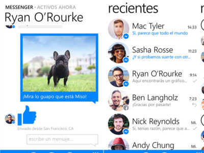 Facebook Messenger llega a Windows Phone 8