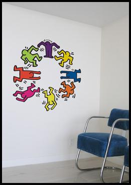 Vinilos con obras de Keith Haring
