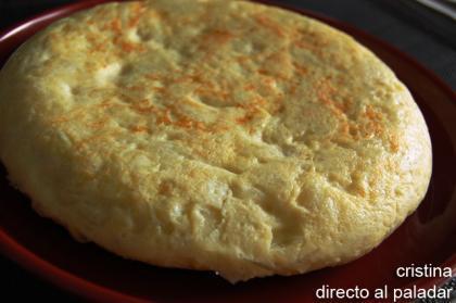 Tortilla de patatas con microondas. Receta