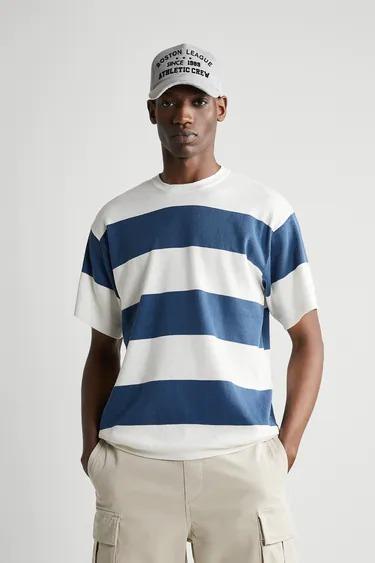 Camiseta a punto en rayas marineras