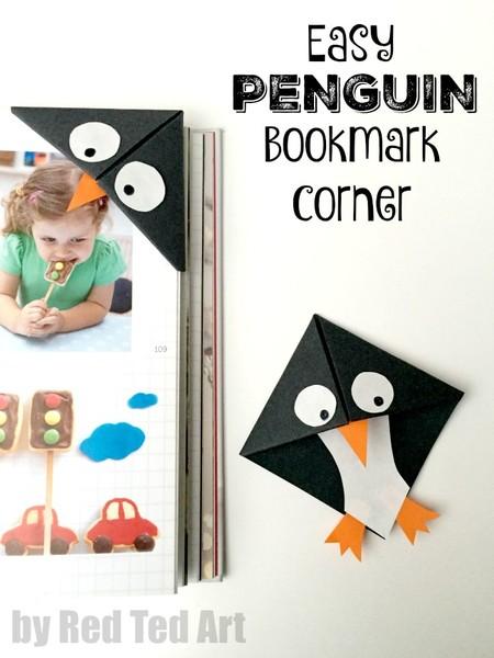 Manualidades Invierno Pinguinos Separador