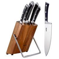Cupón de descuento del 42% en el set de 5 cuchillos de cocina Aicok: aplicándolo cuesta 24,93 euros en Amazon