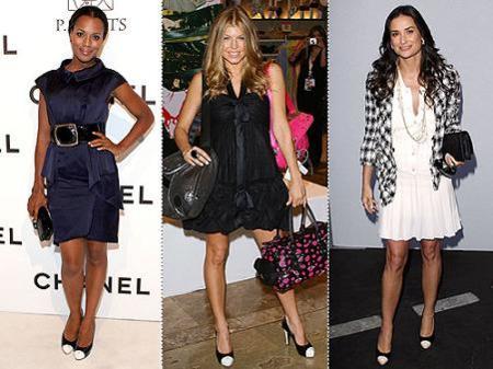 Las famosas se rinden al zapato bicolor de Chanel