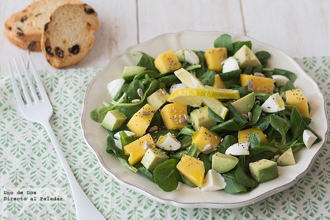 Ensalada de aguacate y mango: receta fácil, rápida y deliciosa