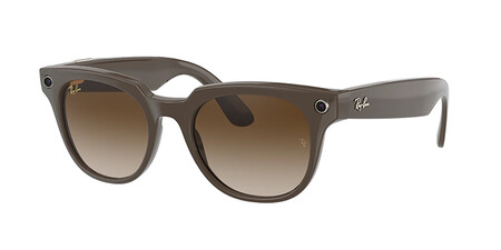 Ray Ban Stories Meteor Shiny Brown Brown Gradient Lenses2
