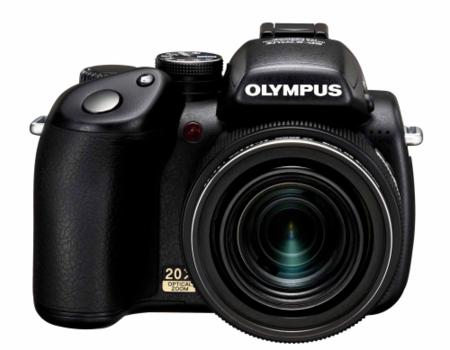 Olympus SP-570 UZ con zoom óptico de 20 aumentos, FE-350, FE-340 y FE-310