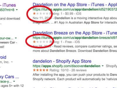 Google resolverá un bug con el que algunas aplicaciones de la App Store aparecían con una sola estrella en su buscador
