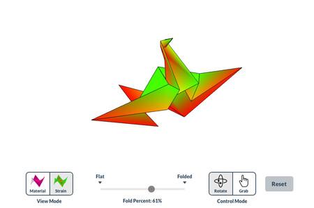 Este simulador de origami en 3D imita es muy fiel a la realidad y plantea un reto aún mayor: lograr la figura en un solo paso