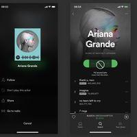 Spotify para iOS te permitirá bloquear a artistas individuales de todas sus secciones