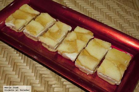 Mousse de foie y queso de cabra con manzanas caramelizadas. Receta con Thermomix