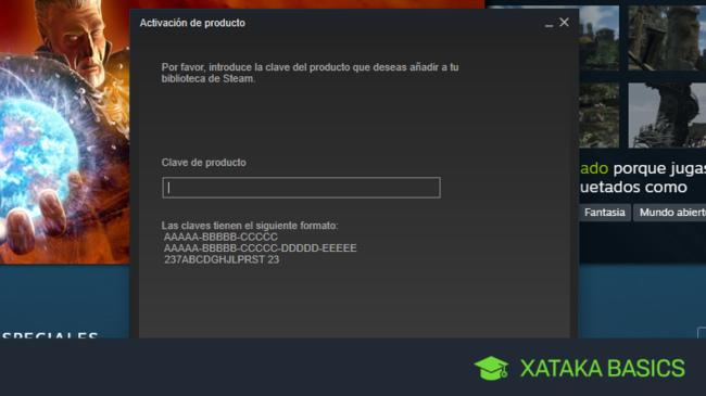 Cómo activar un juego en Steam con un código de producto