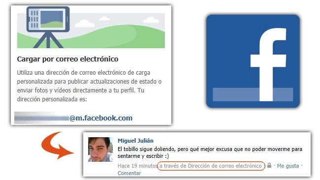 Actualiza Facebook a través de tu correo electrónico