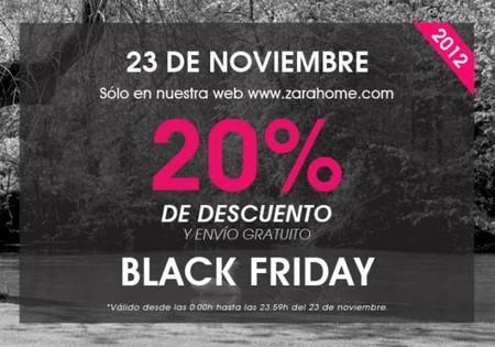 El 23 de noviembre es Black Friday en Zara Home