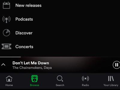 Spotify Beta cambia el menú de navegación por una barra inferior estilo iOS