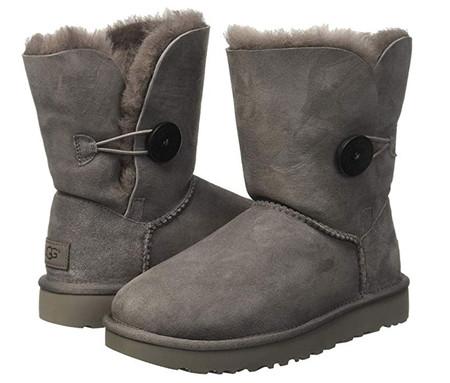 Ugg Bailey Button Ii Grey Zapatillas Altas Para Mujer