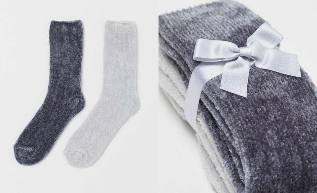 Pack 2 calcetines de chenilla