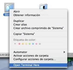 OpenTerminalHere: Para abrir un Terminal en cualquier carpeta desde el entorno gráfico