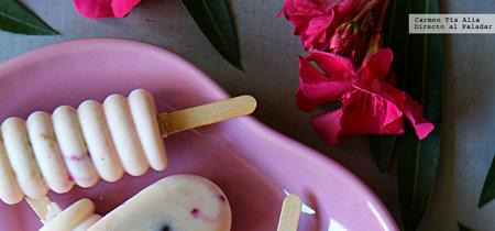 Polos de queso de cabra y cerezas. Receta para combatir el calor