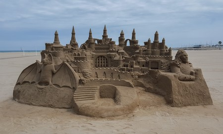 Maxpixel Freegreatpicture Com Sand Beach Sand Castle Sea 1395529
