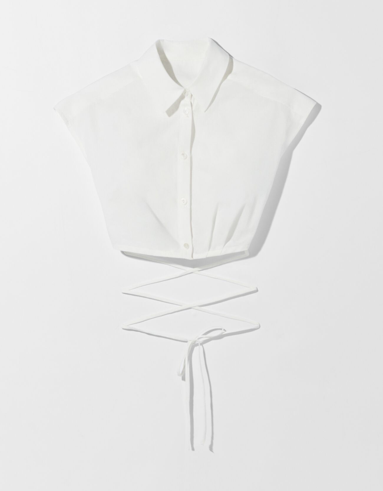 Camisa sin mangas popelín cropped lazada.