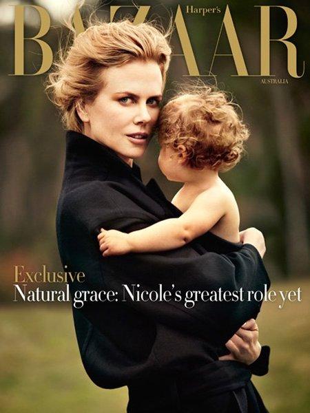 Nicole Kidman, toda una madraza en Harper's Bazaar