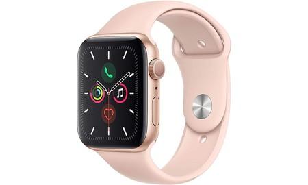 En rosa, más barato todavía: el Apple Watch Series 5 de 44mm, en Amazon a su precio más bajo hasta la fecha, por 421 euros