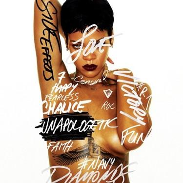 Raro: Rihanna enseña chicha en la portada de su nuevo disco 'Unapologetic'