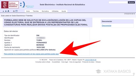 Solicitar Exclusion