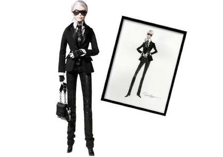 Mattel presenta la Barbie Lagerfeld