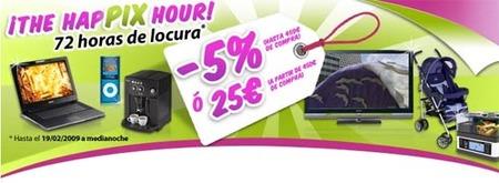 Pixmania ofrece un 5% de descuento en todo el sitio