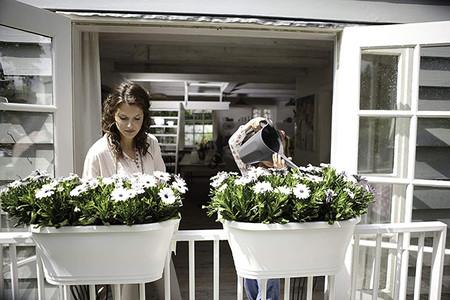 Elho Corsica Flower Bridge Jardinero Balcon Blanco 58x29 6x32 6 Cm