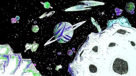Ter recrea un mundo futurista en su primer corto de animación dibujado con bolígrafos de colores