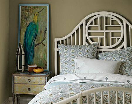 Dormitorio de estilo oriental